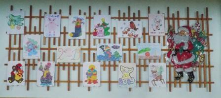 Выставка работ, учащихся школы «Новогодние фантазии».